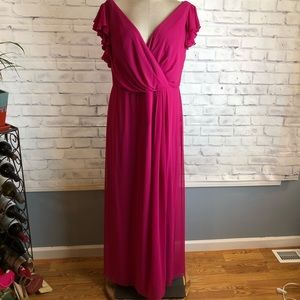 Fuscia bridesmaid gown. Dressy collection. Size 18
